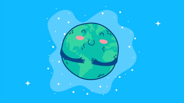 international health day with world planet character video