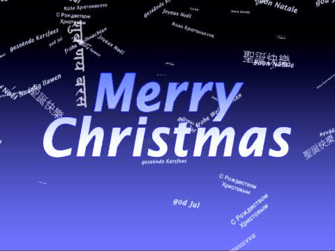 クリスマス国際 merry - 文字記号点の映像素材/bロール