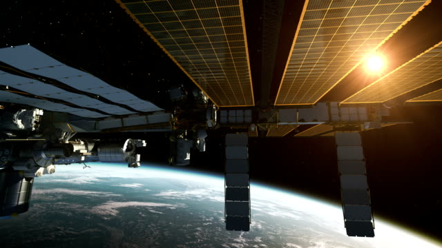 International Space Station In The Rays Of Sun video