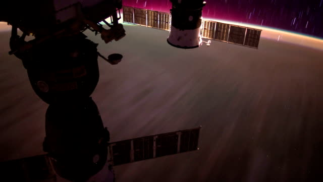 International Space Station ISS Aurora Australis Across Pacific Ocean, Time Lapse HD video