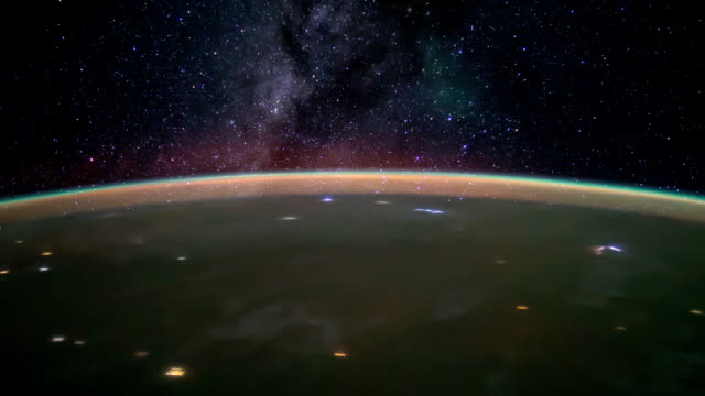 International Space Station ISS Milky Way star galaxy, Time Lapse HD video