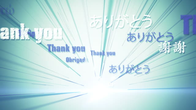 international thank you (blue/green) - loop - thank you stock videos and b-roll footage
