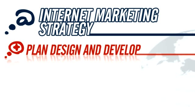 Internet Marketing Strategy video illustration on white in HD