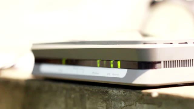internet modem light video