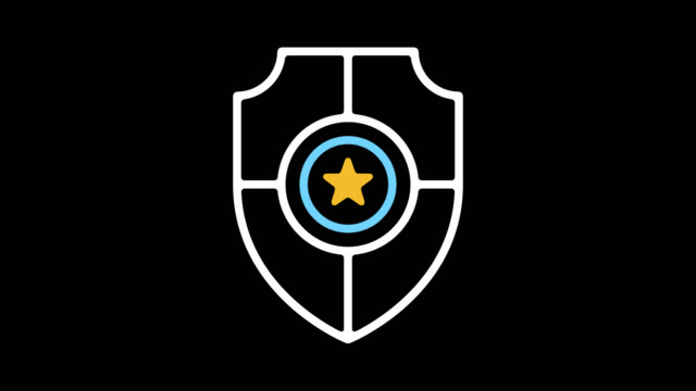 Internet Security Line Icon Animation with Alpha Internet security motion graphic line icon animation. Alpha channel will be included when downloading the 4K Apple ProRes 4444 file only. shield stock videos & royalty-free footage