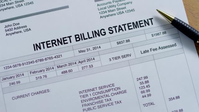 Internet Service Past Due Bill video