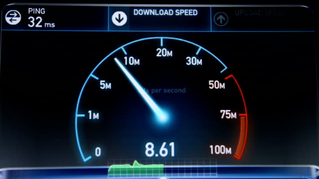 Internet Speed Test upload and download video