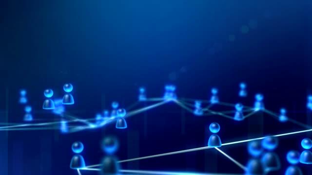 のインターネットユーザー - 鎖の輪点の映像素材/bロール