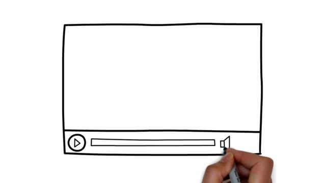 stockvideo's en b-roll-footage met internet video - doodles