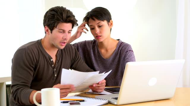 Interracial couple in debt video