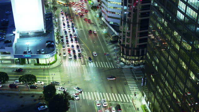 Intersection of Wilshire Blvd and Gayley Ave, Los Angeles - Drone Shot video