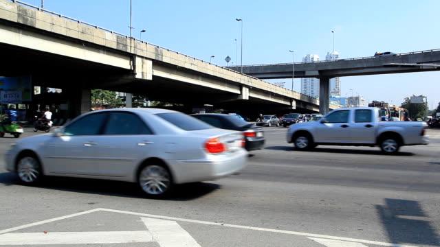 Intersection traffic.