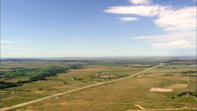 interstate - Aerial View - South Dakota,  Butte County,  United States video