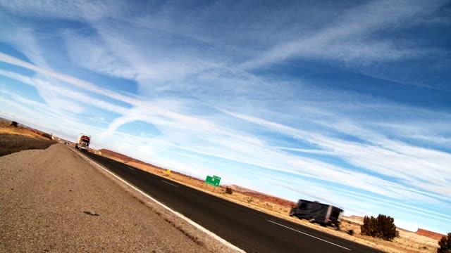 Interstate Highway Semi Truck video