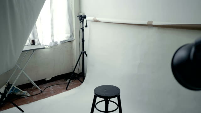 Interview Fashionable Artist Behind the scenes photo shoot stock videos & royalty-free footage