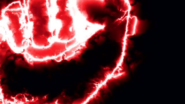 明るい炎のようなエネルギー分野でイントロ拳 - 拳 イラスト点の映像素材/bロール