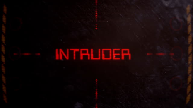 Intruder Warning on a Retro Sci Fi Monitor video