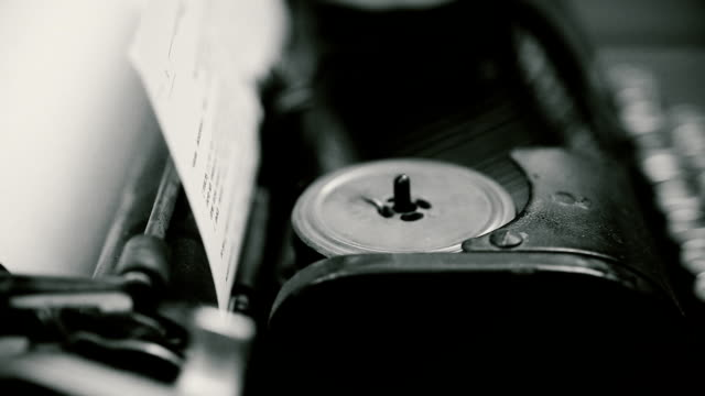 Invention of typewriter machine, retro publishing business, vintage objects video
