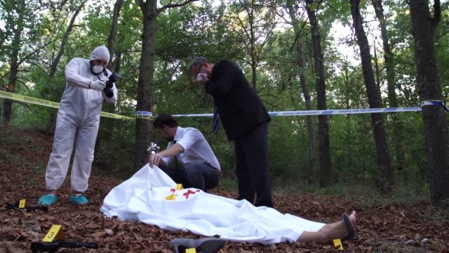 Investigating the crime scene 4K video
