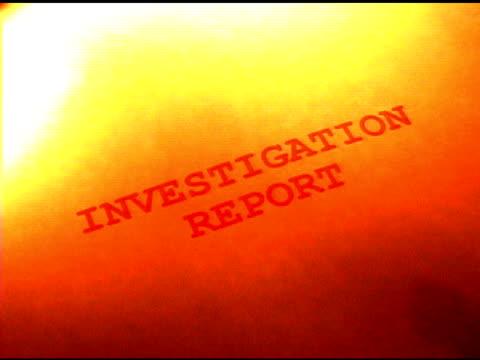 rapporto di indagine on fire - rapporto video stock e b–roll