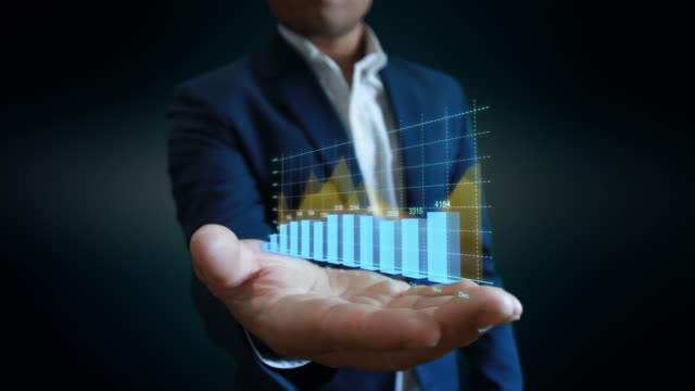 vidéos et rushes de graphique de croissance de l'investissement. - book