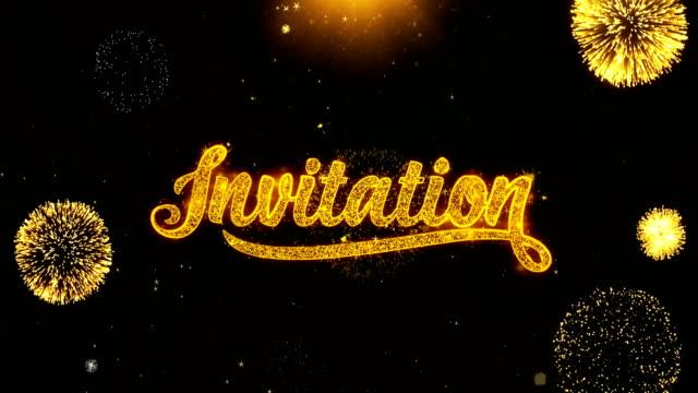 Invitation Sky_Firework   Wishes Greetings card, Invitation, Celebration Firework Looped