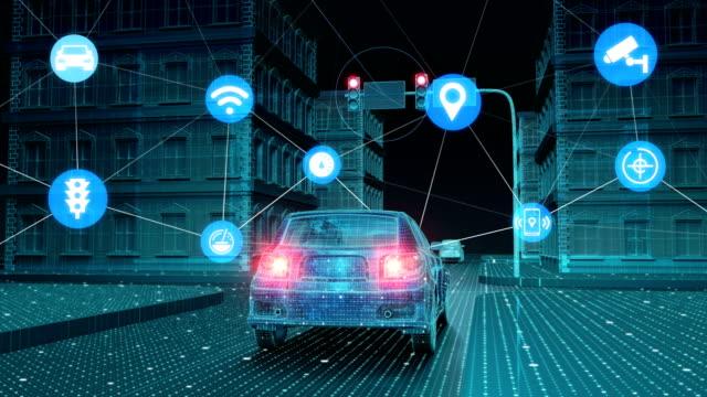 IoT 車交通情報管制システム、こと概念のインターネットに接続します。4 k サイズ ビデオ