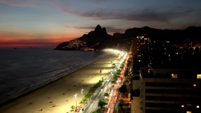 Ipanema Beach City Time Lapse video