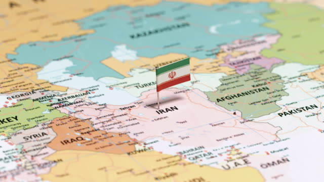 iran with national flag - opec video stock e b–roll