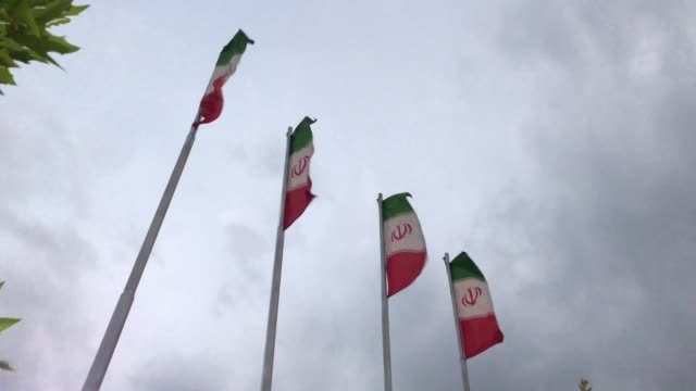伊朗國旗。 - 德黑蘭 個影片檔及 b 捲影像