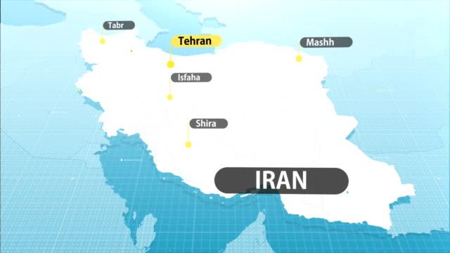 iranian map
