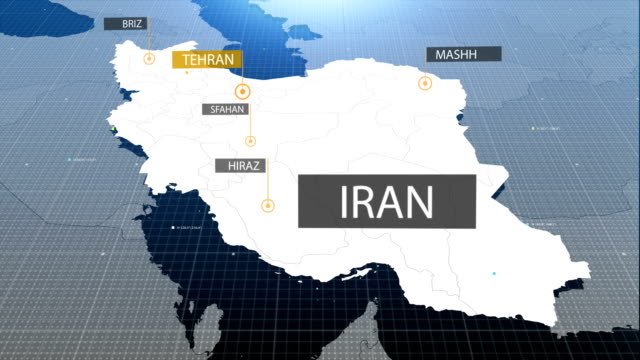 iranian map with label then with out label
