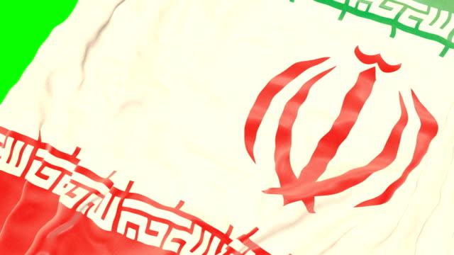 vidéos et rushes de drapeau ondulant iranien. écran vert - ligue sportive
