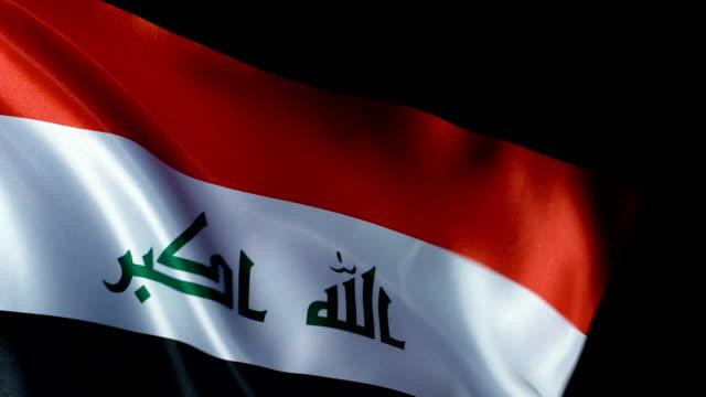iraq flag flapping - opec video stock e b–roll