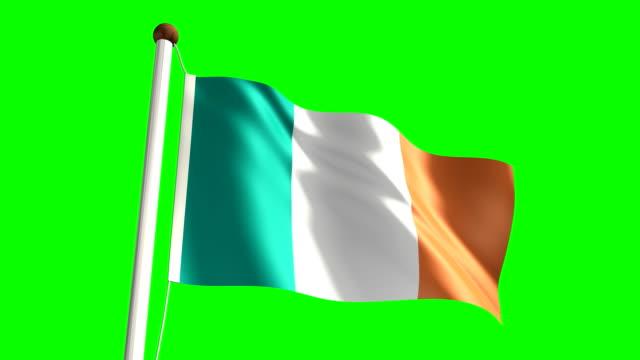 Ireland flag (Loop & green screen) video
