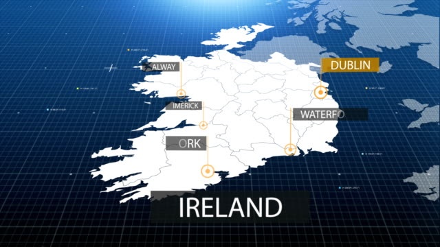 Ireland map with label then with out label video