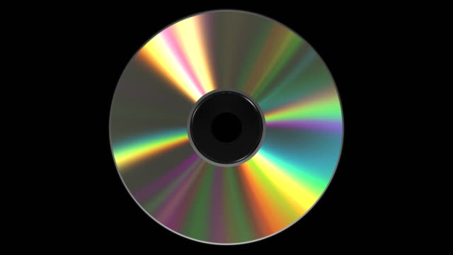 4 k. 虹色の cd dvd ディスク。ループ。アルファ マット。 - 玉虫色点の映像素材/bロール