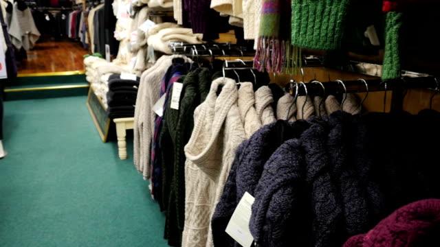 Irish handcraft knitwear clothes from Arann Islands video