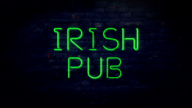 Irish Pub neon sign video