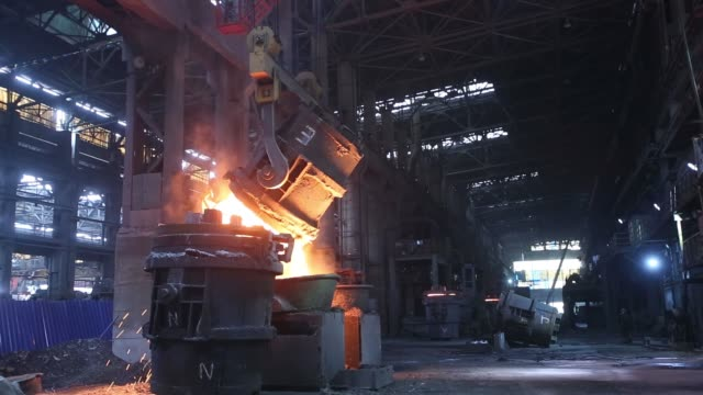 iron and steel works iron and steel works foundry stock videos & royalty-free footage