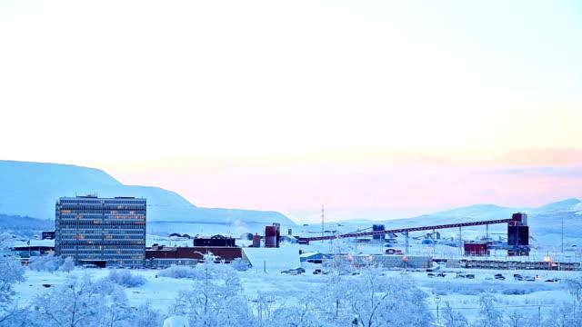 iron ore mine refinery factory working, kiruna sweden - norrbotten bildbanksvideor och videomaterial från bakom kulisserna