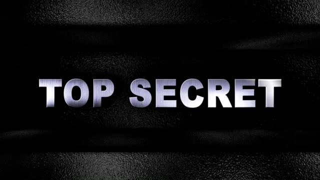TOP SECRET Iron Text in Metal Door video