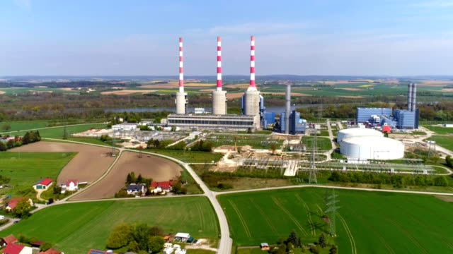 Irsching Gas-fired Power Station In Bavaria video