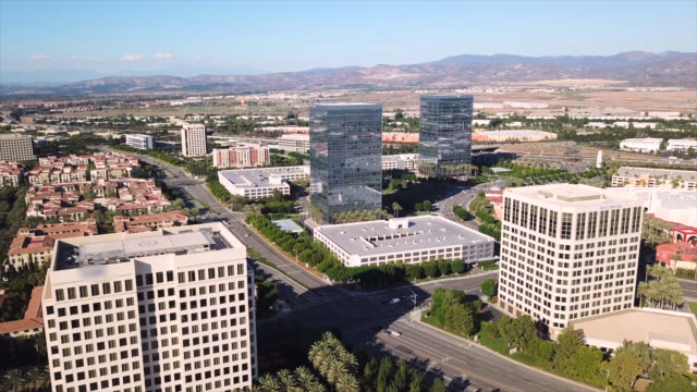 irvine skyline - california video stock e b–roll