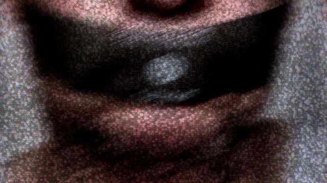 isis censorship - censura video stock e b–roll