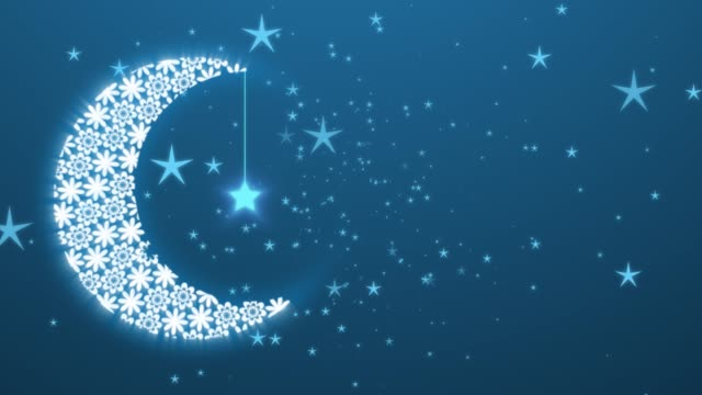 vídeos y material grabado en eventos de stock de fondo de ramadán islámico con luna y lanters. símbolo del ayuno, iftar, sahoor, eid, ritual y tradiciones - eid mubarak