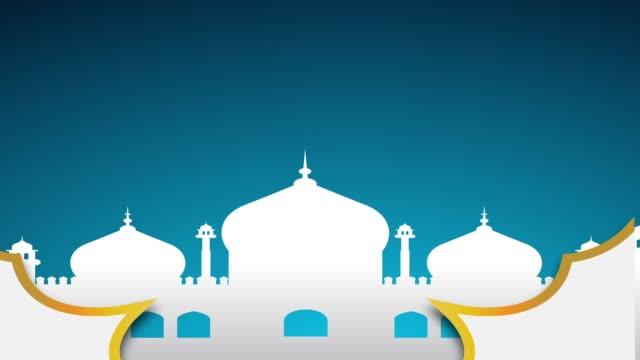 islamic ramadan - eid murabak background - eid stock videos & royalty-free footage