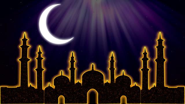 islamiska ramadan eid neon bakgrund - ramadan lykta bildbanksvideor och videomaterial från bakom kulisserna