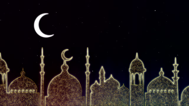 islamic ramadan - eid neon background - ramadan stock videos and b-roll footage