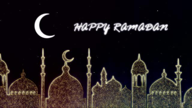 vídeos y material grabado en eventos de stock de ramadán islámico - fondo de neón de eid - eid mubarak